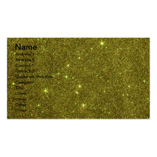 Image of greenish yellow glitter pack of standard business cards