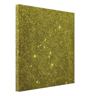 Image of greenish yellow glitter canvas print