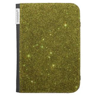 Image of greenish yellow glitter kindle 3 case