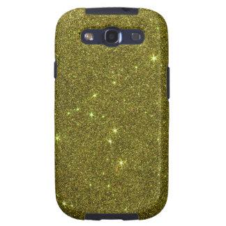 Image of greenish yellow glitter galaxy SIII case