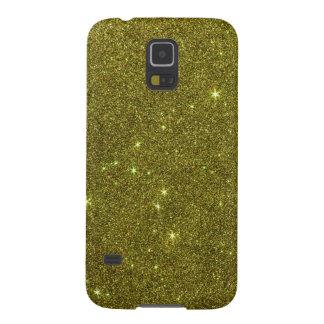 Image of greenish yellow glitter galaxy s5 case