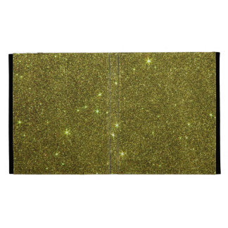 Image of greenish yellow glitter iPad folio cover