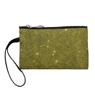Image of greenish yellow glitter coin purse