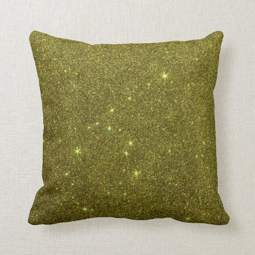 Image of greenish yellow glitter throw pillows