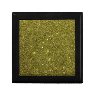 Image of greenish yellow glitter trinket box