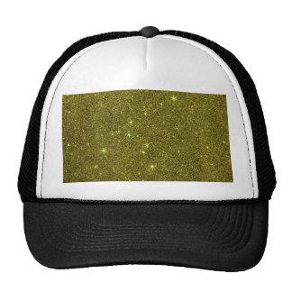 Image of greenish yellow glitter hats