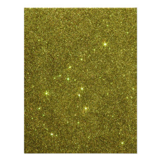 Image of greenish yellow glitter invitation