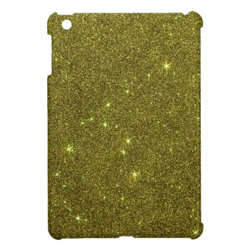 Image of greenish yellow glitter iPad mini cover