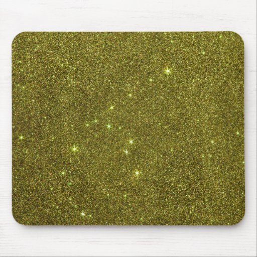 Image of greenish yellow glitter mouse pads