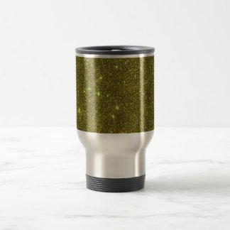 Image of greenish yellow glitter coffee mugs