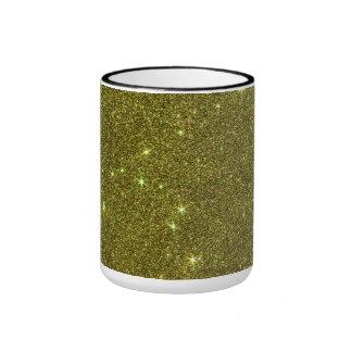 Image of greenish yellow glitter mug