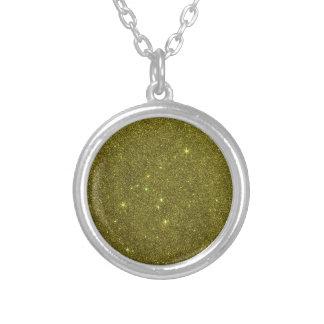 Image of greenish yellow glitter pendants