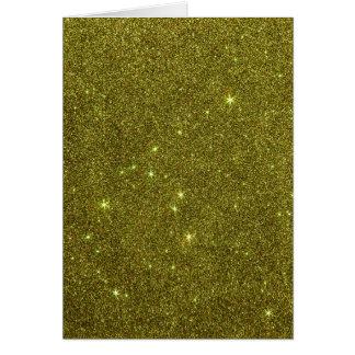 Image of greenish yellow glitter note card