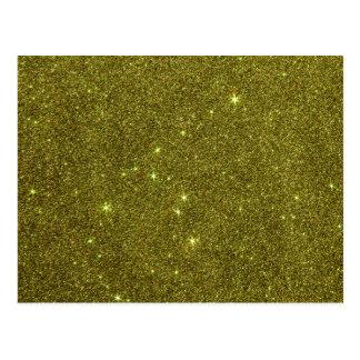 Image of greenish yellow glitter postcard