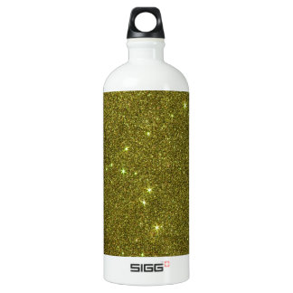 Image of greenish yellow glitter SIGG traveller 1.0L water bottle