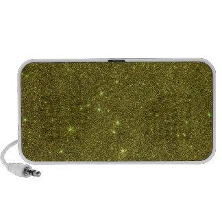 Image of greenish yellow glitter travel speaker