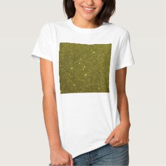 Image of greenish yellow glitter tees