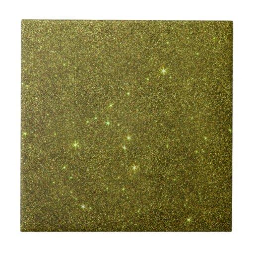 Image of greenish yellow glitter tiles