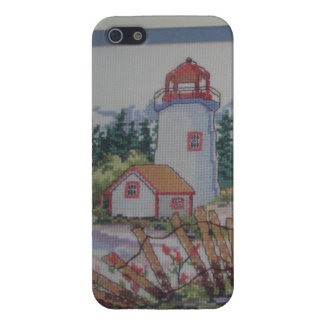 image of lighthouse and house iPhone 5 cases