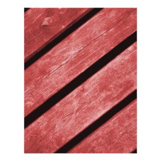 Image of Red Planks of Wood Flyer Design