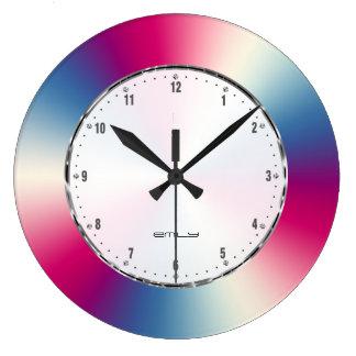 Image of Shiny Metallic Texture Large Clock