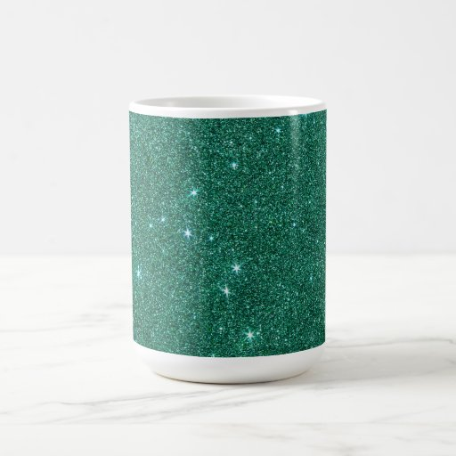 Image of teal glitter coffee mug