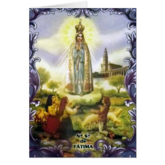Image of the apparition Our Lady of Fatima Card
