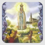 Image of the apparition Our Lady of Fatima Sticker
