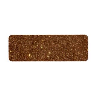 Image of trendy copper Glitter Return Address Label