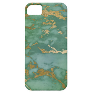 Image Of Trendy Marble Texture In Green & Gold iPhone 5 Cover
