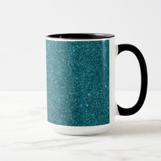 Image of trendy teal glitter mug