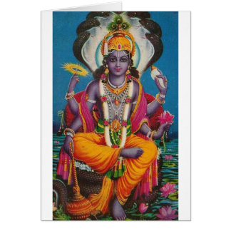 Image of Vishnu, god of harmony and truth Card