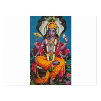 Image of Vishnu, god of harmony and truth Postcard