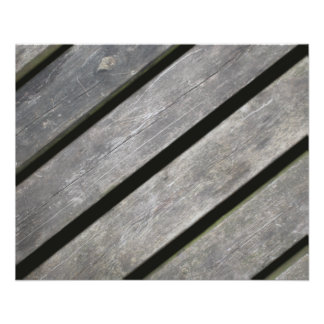 Image of Weathered Planks of Wood 11.5 Cm X 14 Cm Flyer