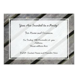 Image of Weathered Planks of Wood 11 Cm X 16 Cm Invitation Card