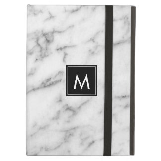 Image Of White & Gray Marble Stone iPad Air Cover