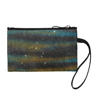 Image of yellow and turquoise Glitter Coin Wallets