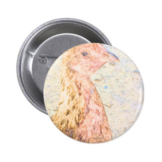 image pic chicken.png 6 cm round badge