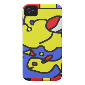 Image with fish modern art Case-Mate iPhone 4 cases
