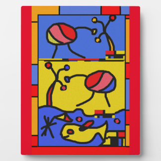 Image with fish modern art plaque