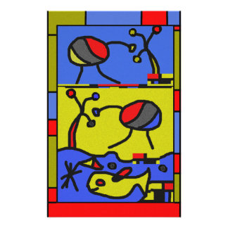 Image with fish modern art stationery
