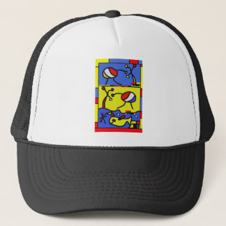 Image with fish modern art trucker hat