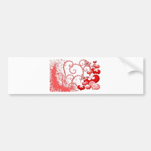 imagem com corações e borboletas bumper sticker