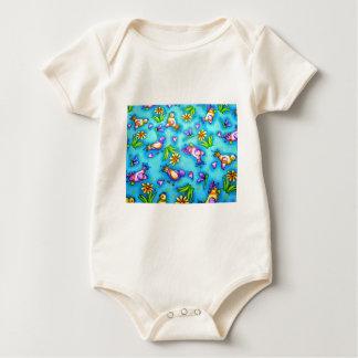 imagem com passarinhos baby bodysuit