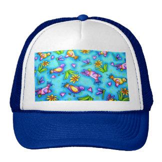 imagem com passarinhos mesh hat