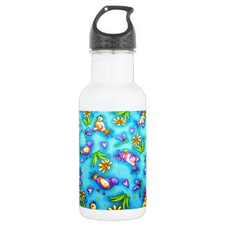imagem com passarinhos 18oz water bottle