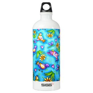 imagem com passarinhos SIGG traveler 1.0L water bottle