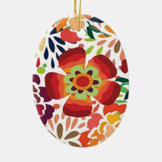 imagem floral ceramic oval decoration