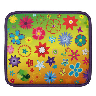 imagem floral diversas cores sleeves for iPads