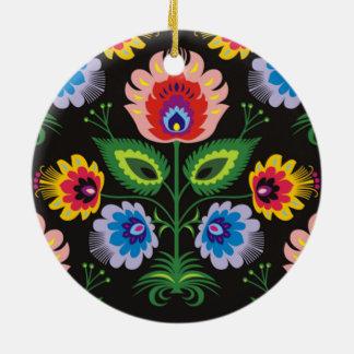 imagem painel floral round ceramic decoration